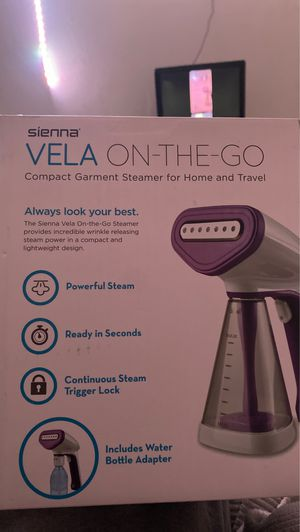 Sienna Vela Garment Steamer for Home and Travel, Vela On-The-Go Hand Steamer, 1500W of Superheated Steam for Sale in East Point, GA