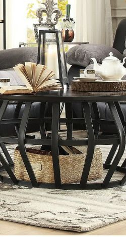 Coffee Table - 40×40 Round Eclectic/Industrial Coffee Table for Sale in New Port Richey,  FL