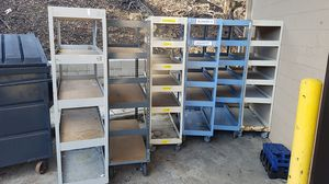 "Warehouse carts stock, retail, inventory equipment or maintenance 7' x 4' x 18"" 4 avail for Sale in San Diego, CA"
