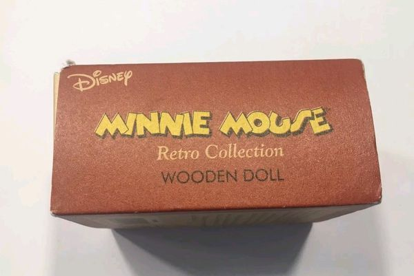 Disney Minnie Mouse Wooden Doll Figurine by Schylling !