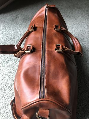 Tan leather duffle bag for Sale in Upland, CA