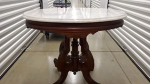 Antique victorian marbletop mahogany wood table for Sale in Matawan, NJ