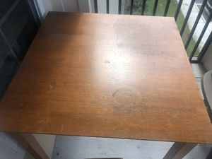 Wooden Table and Four Matching Stools for Sale in Apopka, FL