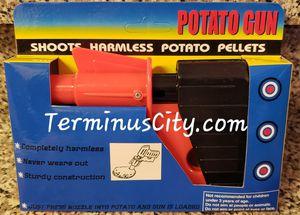 Toy Potato Pellets Gun Plastic Fun Play With Your Food! Kitchen Chef Cook Games. Kids & Adults Harmless Toy Guns joke gag gaggift jokes games for Sale in Marietta, GA