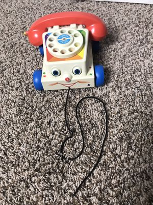 Fisher Price Toys Classic Chatter Phone 1970's Vintage Pull Cord Tested Working for Sale in Tallmansville, WV