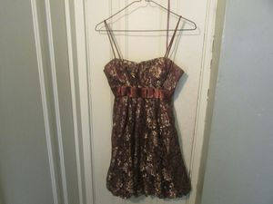 Brown and gold dress size 5/6 for Sale in Aurora, IL