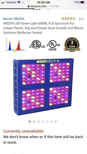 Meizhi LED 600w agricultural grow light for Sale in Mill Creek, WA