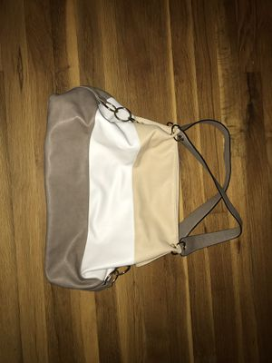 Tri colored Large Leather Bag, like new for Sale in Brookfield, CT