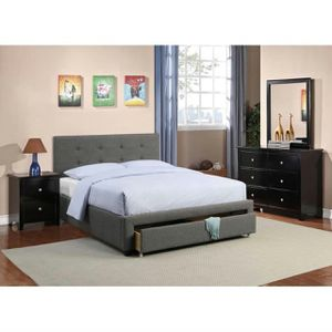 Queen Size Storage Bed Frame, Grey Color for Sale in Fountain Valley, CA