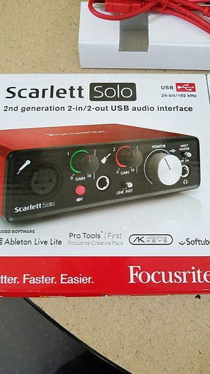 Focusrite Scarlett Solo Audio Interface for Sale in Ocean Shores, WA