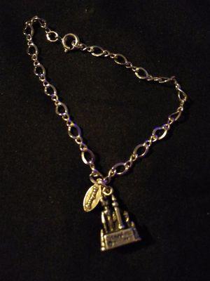 Sterling silver Disneyland castle charm bracelet for Sale in Salt Rock, WV