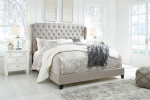 Jerary - Gray - Queen Upholstered Bed for Sale in Naples, FL