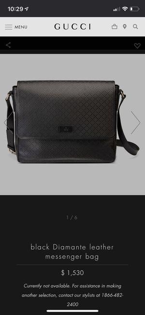 GUCCI Diamante Leather Messenger Bag for Sale in Santa Monica, CA