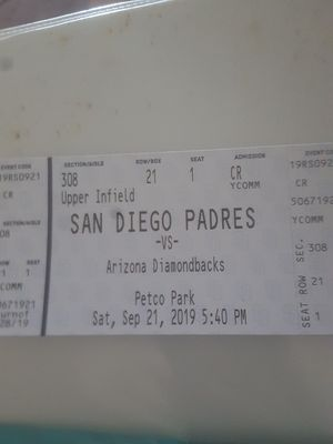 Padres ticket for Sale in San Diego, CA