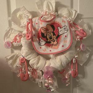 DIY Minnie Mouse diaper Wreath for Sale in Philadelphia, PA