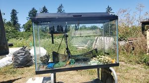 25-30 gal All Glass Aquatium Fish tank with filter heater and light and accessories.. for Sale in Dundee, OR