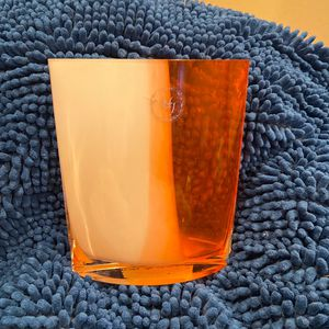 Orange And White Glass Vase for Sale in Aurora, CO