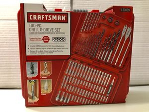 Craftsman 100 PC drill & drive set - Best gift for Christmas for Sale in Houston, TX