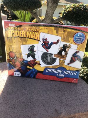 Spider-Man memory match game for kids for Sale in La Puente, CA