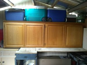 Solid oak cabinet for Sale in Grants Pass, OR