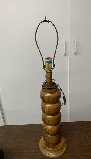 Antique Vintage Beautiful Teakwood Lamp $40 for Sale in Riverside, CA