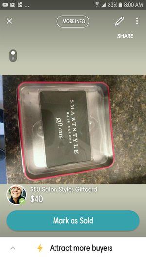 Smartstyle Salon GC -$50 for $35 for Sale in Peoria, IL