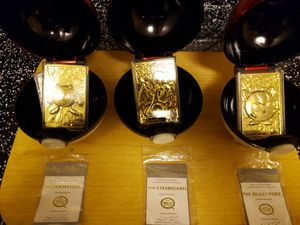 Pokemon! Pokeball / Gold plated cards for Sale in Houston, TX