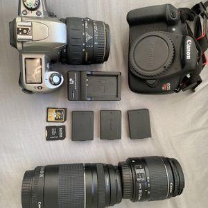 Canon Rebel T5 and Nikon N65 Film Camera for Sale in Newport, MI