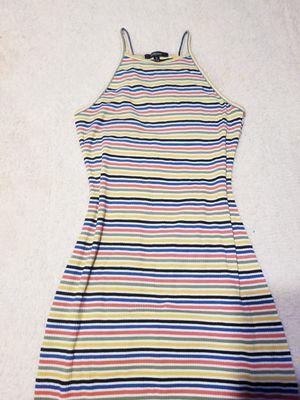 Yellow colorful striped mini dress for Sale in Dallas, TX