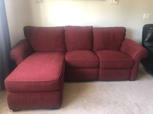 Red Corduroy Sectional Couch for Sale in Clovis, CA