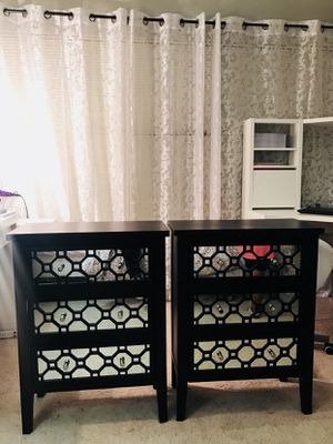 Black Mirrored Night Stands for Sale in Manassas, VA