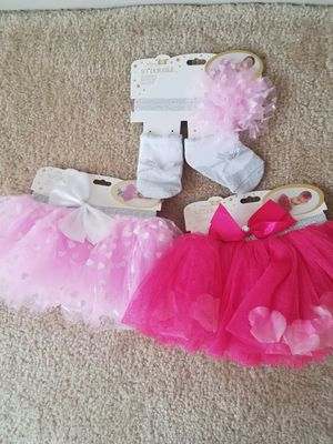 2 New baby girl tutus and headwrap and socks- all 3 for $10 for Sale in Rockville, MD