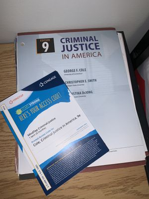 Criminal Justice in America for Sale in Plattsburgh, NY