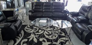 BLACK LEATHER RECLINER SET for Sale in Stafford, TX