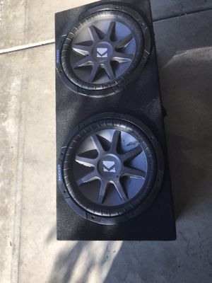 Kickers subwoofers competition series with box for Sale in Fullerton, CA