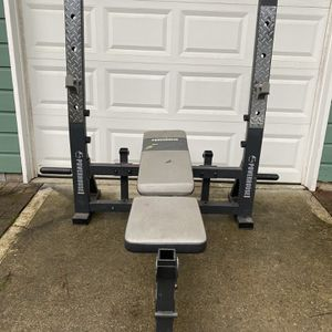 Bench Press Squat Rack With Weight Storage for Sale in Snohomish, WA