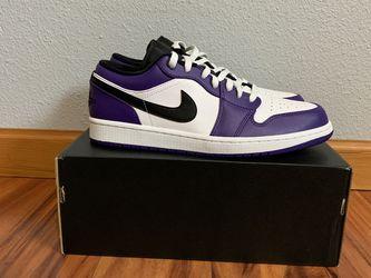 Jordan 1 Low. Court Purple. Size 9.5 for Sale in Vancouver,  WA