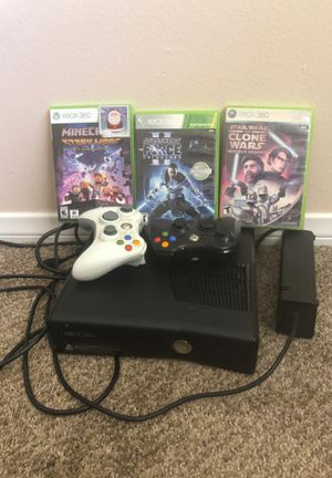 XBox 360 + 3 games for Sale in San Diego, CA