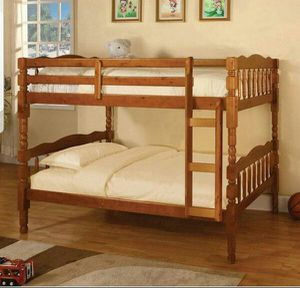 twin over twin bunk bed / just add mattress for Sale in Riverside, CA