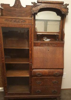 Antique Secretary Victorian Oak Dresser for Sale in Columbus, OH