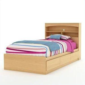 Kids Twin Bed w/Bookcase Headboard for Sale in Apopka, FL