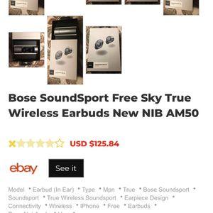 Bose Soundsport Free Wireless Headphones for Sale in Chesapeake, VA