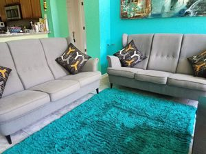 Set of 2 gray fabric sofas, for Sale in Orlando, FL