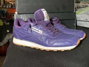 Reebok Classic Leather Sneaker / Purple/ Men size: 11 for Sale in Rancho Cordova, CA