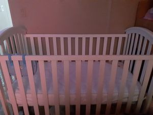 White standard Crib with Mattress for Sale in Payson, AZ