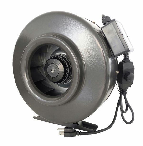 """6"""" fan and filter combo, brand new in box. Adjustable speed in-line 400 cfm, with or without new carbon filter"""
