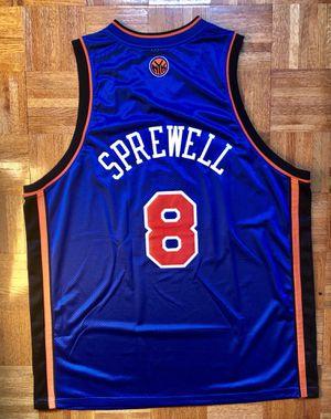 Vintage Reebok Authentic Latrell Sprewell #8 NY Knicks jersey Sz 56 XXL for Sale in Hoboken, NJ