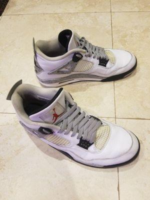Nike Air Jordan 4 Retro White Grey Cement used size 13 for Sale in Miami, FL