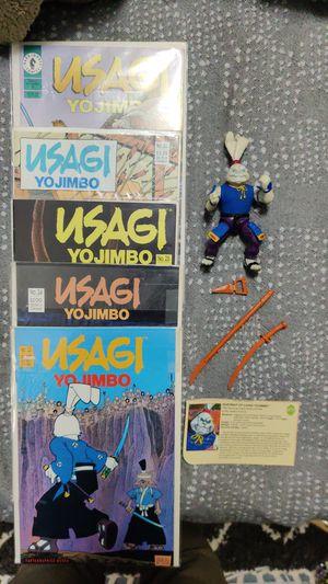 Usagi yojimbo lot: 5 comics, 1989 TMNT figure for Sale in Seattle, WA