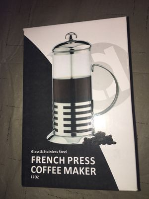 French Press Coffee Maker Stainless Steel and Glass 12 Ounce CLEAN for Sale in Rochester Hills, MI